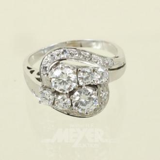 Ring, 585er WG, voll besetzt mit