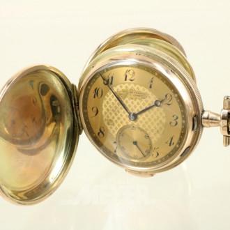 Taschenuhr, 3-Deckelgold 585er,