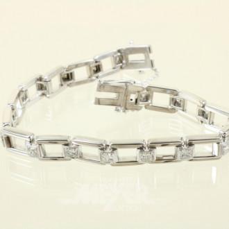 Armband, 585er WG, ca. 32 g.,