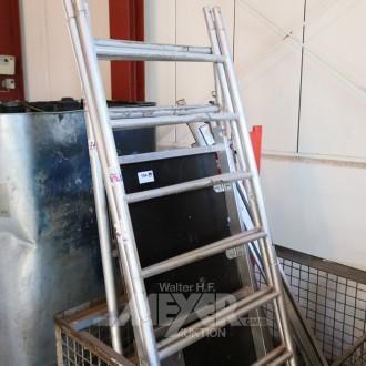 Alu-Rollgerüst in Gitterbox