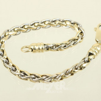 Armband, 585er GG, ca. 13,3 g.