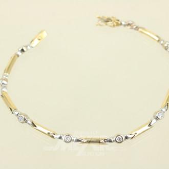 Armband, 750er GG/WG, rhodiniert,