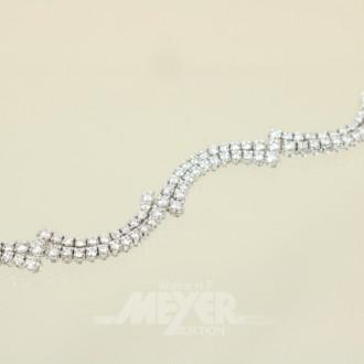Armband, 750er WG, wellenförmig