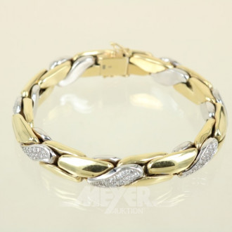 Armband, 585er GG, ca. 58,5 g.,
