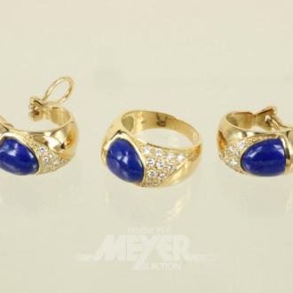 Ring, mit passenden Ohrsteckern/Creolen