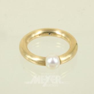 mod. Ring, 750er GG, ca. 13 g.,