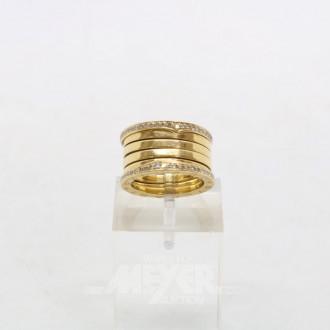 Ring, 750er GG, BULGARI, besetzt mit
