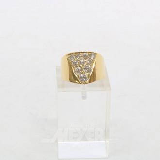 Ring, V-förmig, 750er GG, ca. 11 g.,