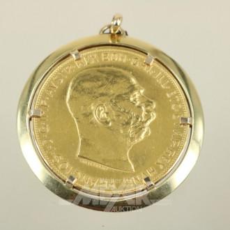 Münzanhänger, 100 Kronen,