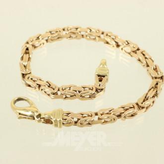 Königsketten-Armband, FBM, 750er GG