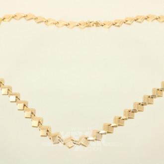 Glieder-Halskette, 750er RG, ca. 20 g.,