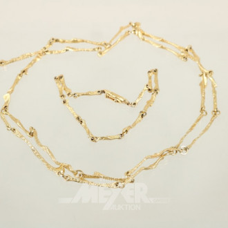 Glieder-Halskette, 750er GG, im Stil