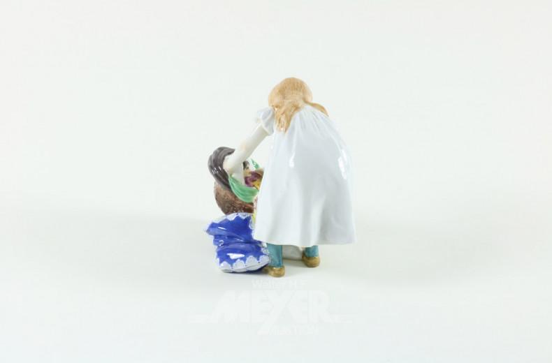 Porz.-Figur ''Mädchen mit Puppenwagen''
