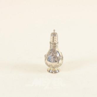 Gewürzstreuer, Silber, ca. 70 g.