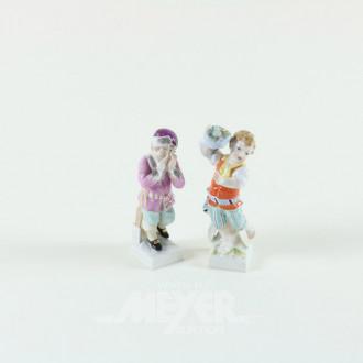 2 kl. Porzellan-Figuren, KPM,