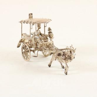 kl. Esel-Kutsche, Silber, ca. 140 g.