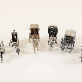 Sammlung Miniatur-Kutschen, ca. 6 Stück