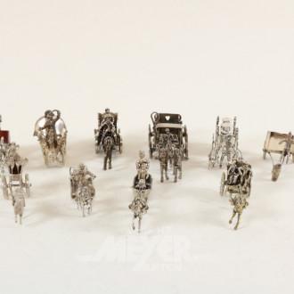 Sammlung Miniatur-Kutschen, ca. 10 Stück
