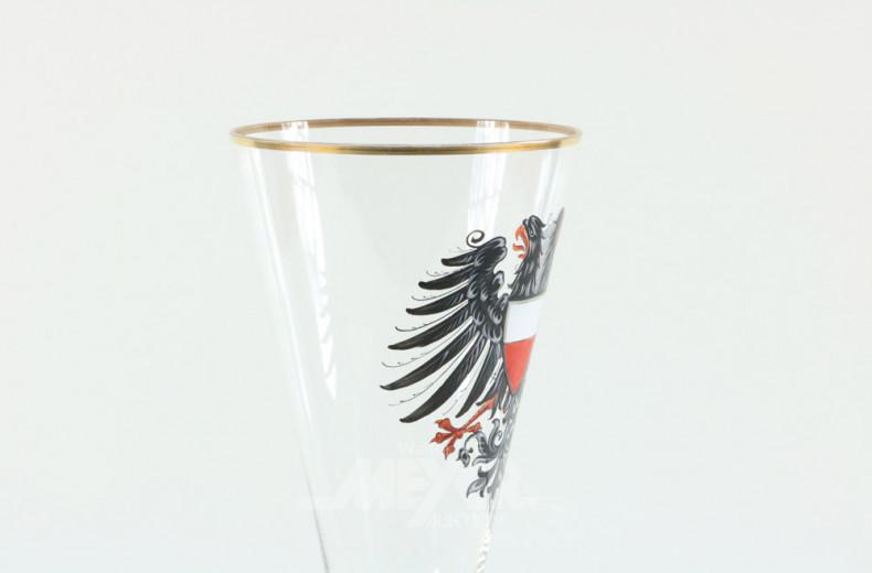 Pokalglas mit Wappen ''Adler''