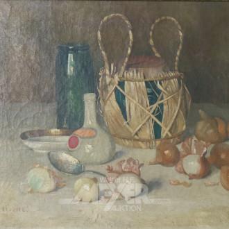 Gemälde ''Stillleben mit Zwiebeln''