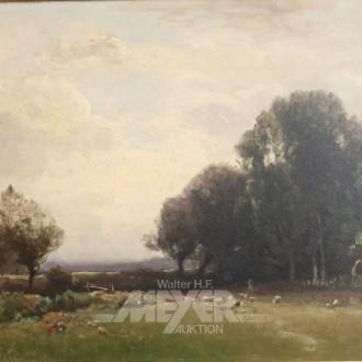 Gemälde, ''Norddeutsche Landschaft''