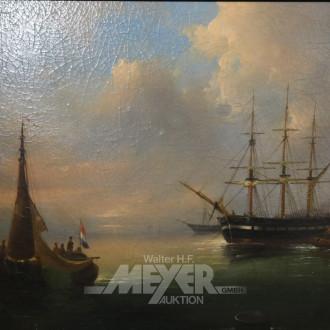 Gemälde ''holl. Kutter vor Hafeneinfahrt''
