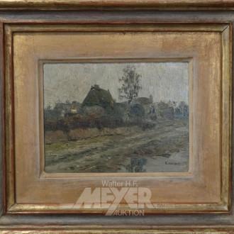 2 kl. Gemälde ''Dorfansichten''
