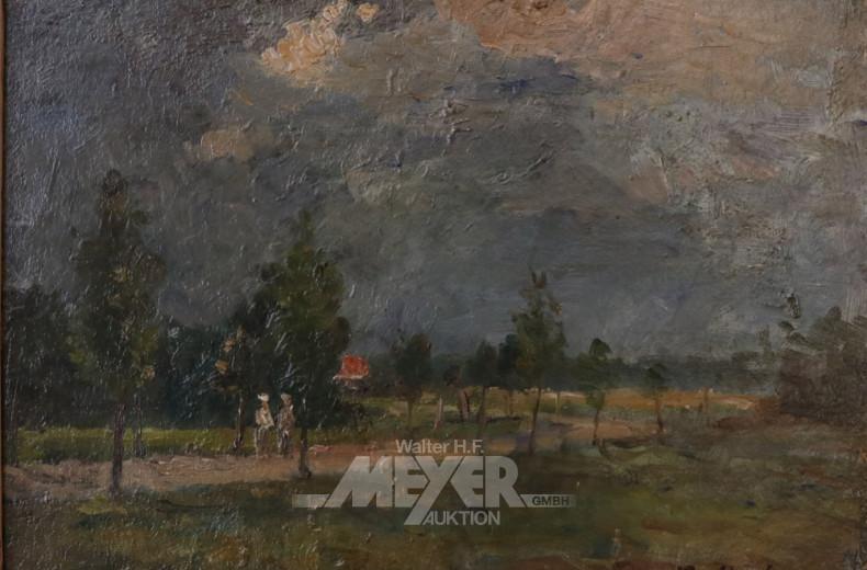 2 kl. Gemälde ''Landschaft und Segelboote''