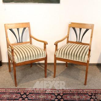 Paar Biedermeier-Armlehnstühle,