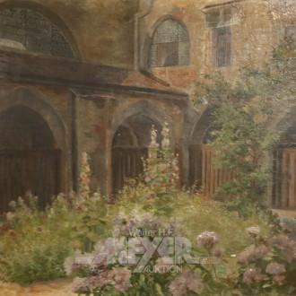 Gemälde ''Innenhof Kloster Neustitt