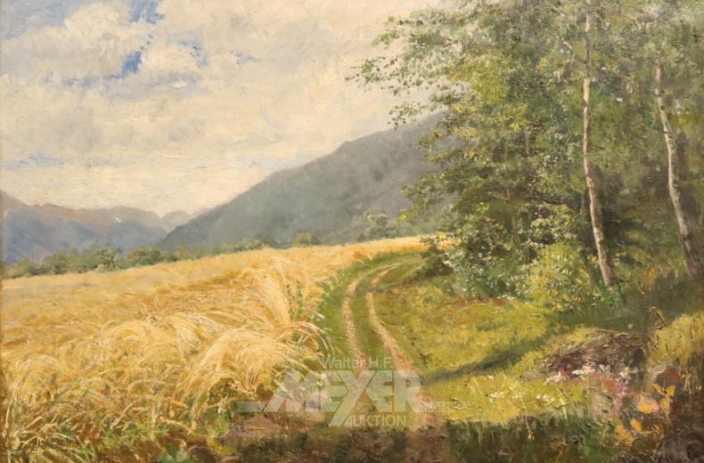 Gemälde ''Forstweg am Kornfeld''