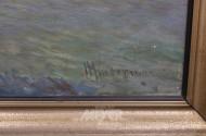 Gemmälde ''auslaufender Dampfer aus