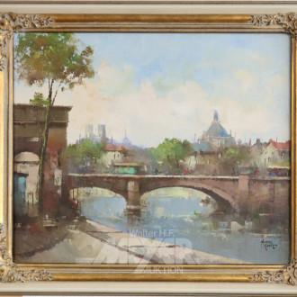 Gemälde ''Koblenzer Brücke''