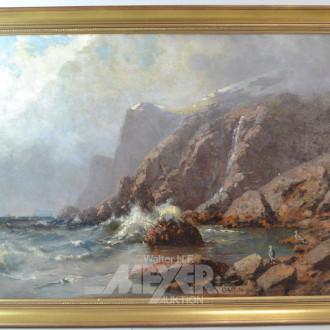 Gemälde ''Felsenküste''