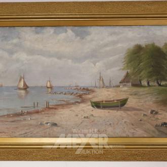 Gemälde, ''Küstenlandschaft mit