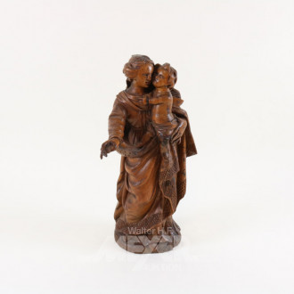 Holzschnitzfigur ''Maria mit Kind''