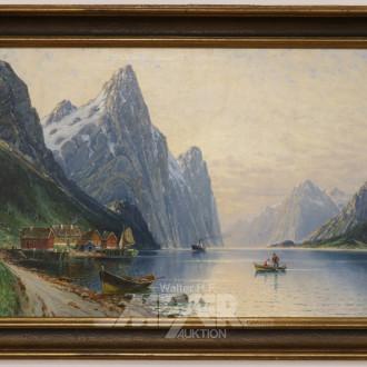 Gemälde, ''Fjordlandschaft'' (Sognefjord)