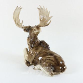 gr. Porzellan-Figur ''Elch''