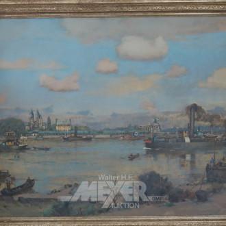 Gemälde ''Rheinlandschaft bei Koblenz