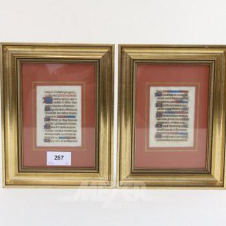 2 Pergamentblätter aus einem Studentenbuch