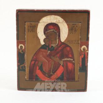 Ikone, ''Gottesmutter mit Randheiligen''