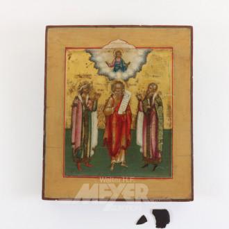 Ikone, ''3 Heilige mit Christus