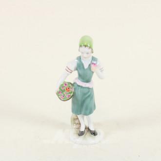 Porzellan-Figur ''Blumenverkäuferin''
