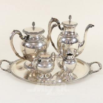 Kaffee-Mokkaservice, 800er Silber,