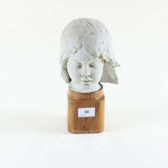 Bisquit-Porzellan-Kopf ''Mädchen''