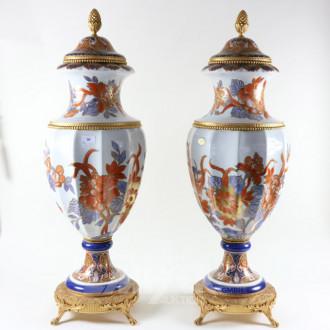 Paar Porz.-Bodenvasen, LIMOGES
