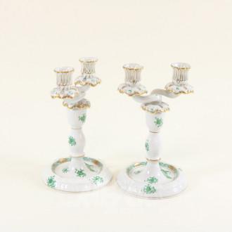Paar Tisch-Kerzenleuchter HEREND,