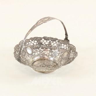 Gebäck-Henkelkorb, 800er Silber