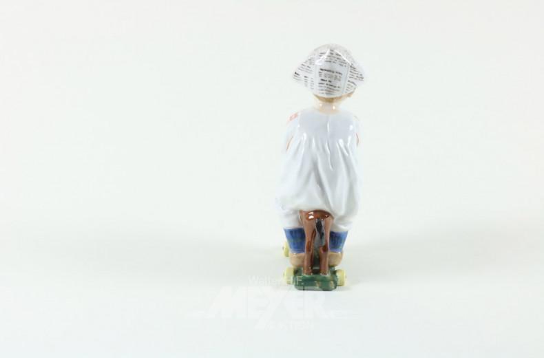 Porz.-Figur ''Kind mit Steckpferd''