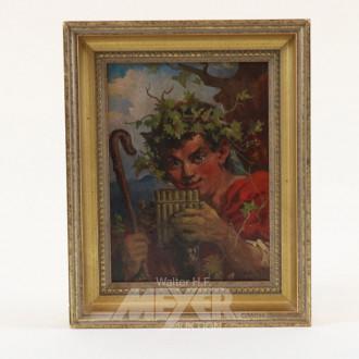 kl. Gemälde ''Bachus''